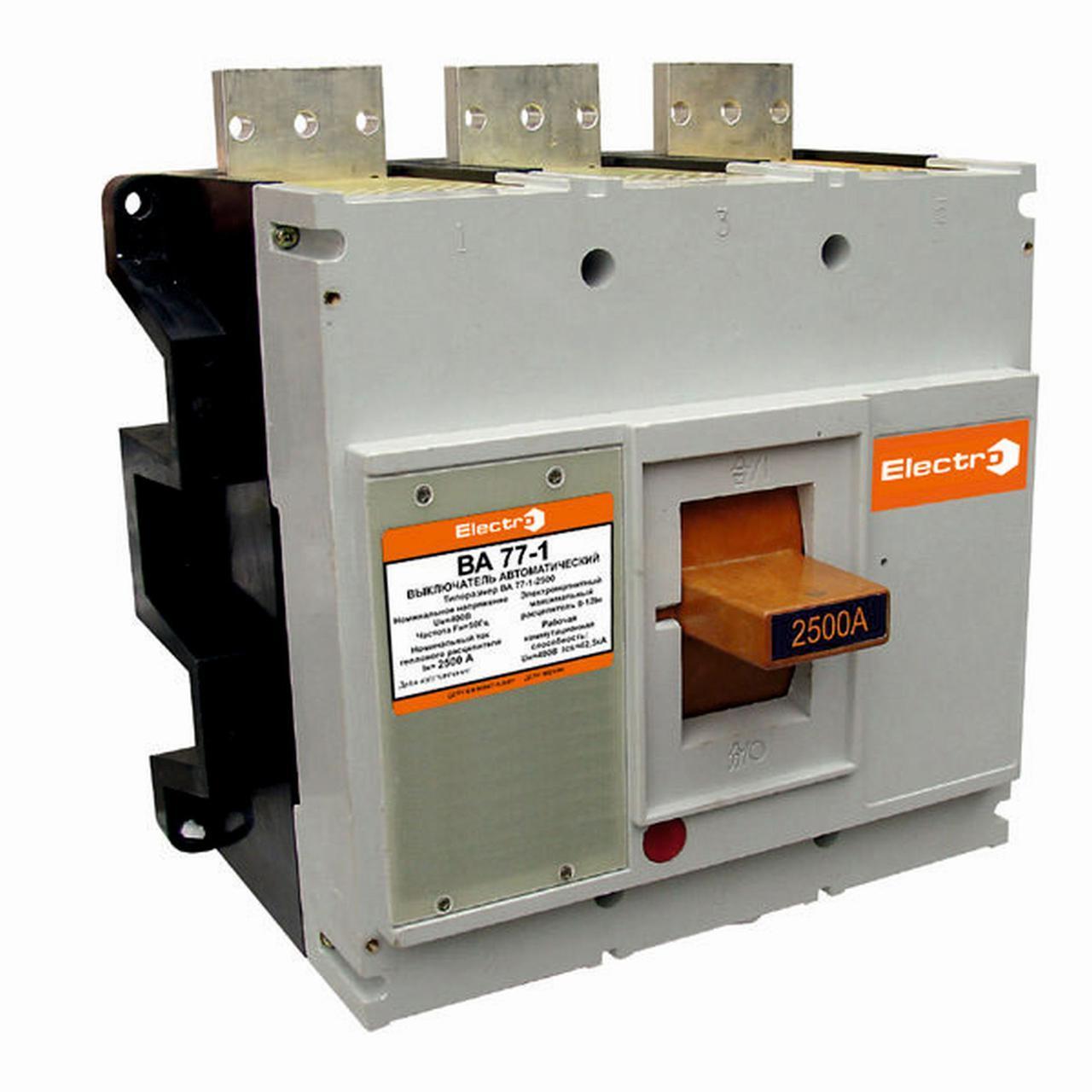 Автоматический выключатель ВА77-1-2500 3 полюса 2000А Icu 85кА с электроприводом + дополнительный контакт