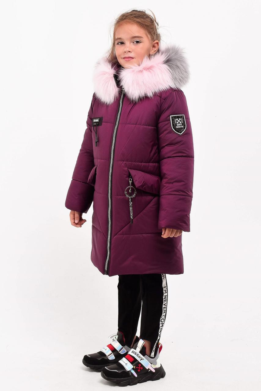 Зимнее пальто для девочки рост 110-130 см