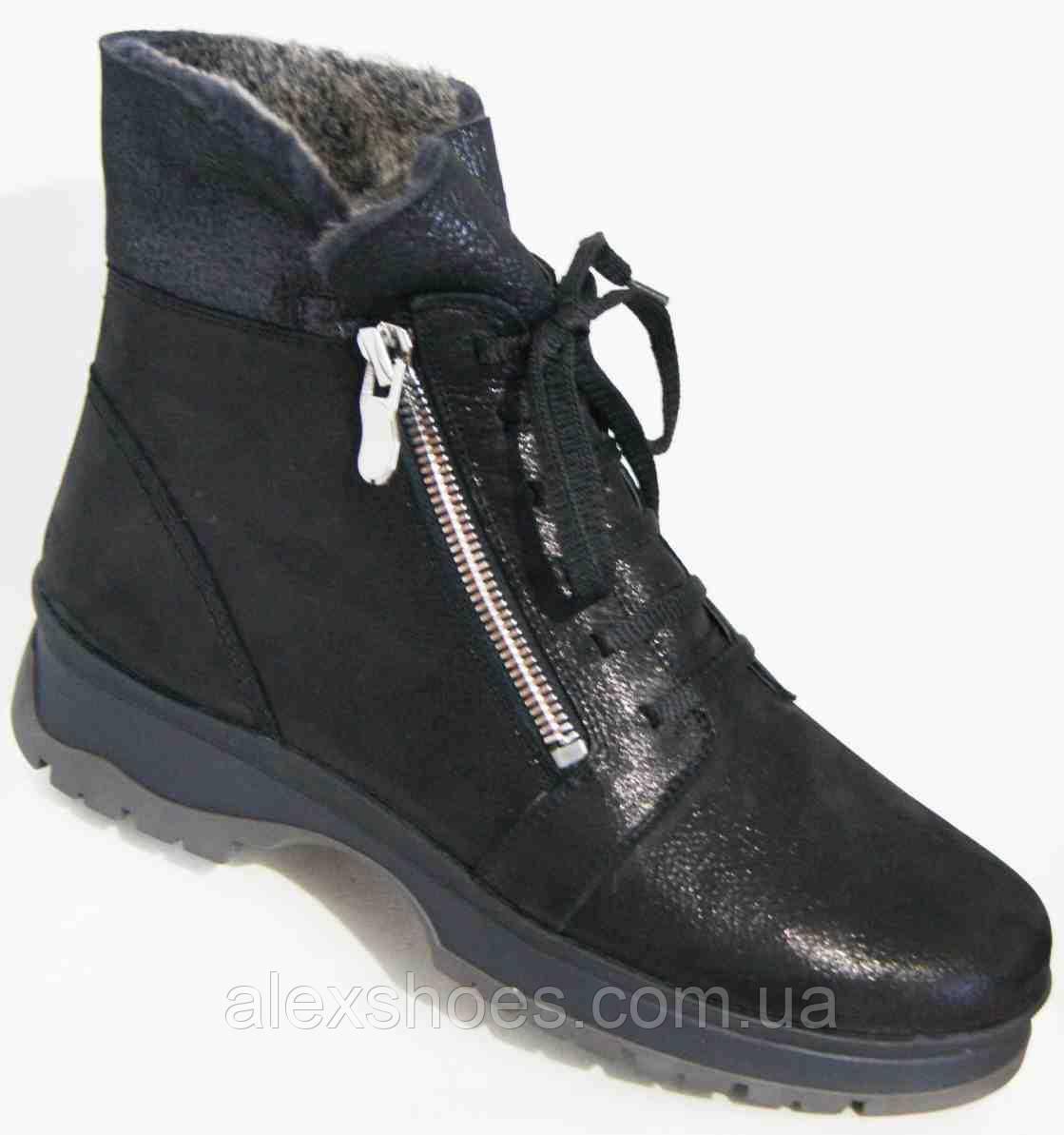 Ботинки женские зимние из натуральной кожи большого размера от производителя модель В5306-4