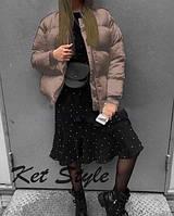 Куртка женская коротка без капюшона стеганая плащевка на синтепоне