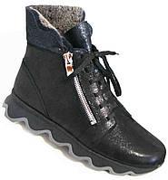 Ботинки женские зимние из натуральной кожи большого размера от производителя модель В5306-3