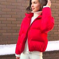 Куртка женская короткая стеганая без капюшона плащевка+синтепон