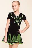 Блуза RLT72160146 (46, чорний, салатовий, з кольоровим кокіль)