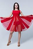 Сукня латина PLT732003 Париж (44, червоний, з сіткою, олія)