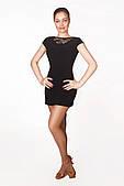 Сукня латина PLT731001 Шлейф (44, чорний)