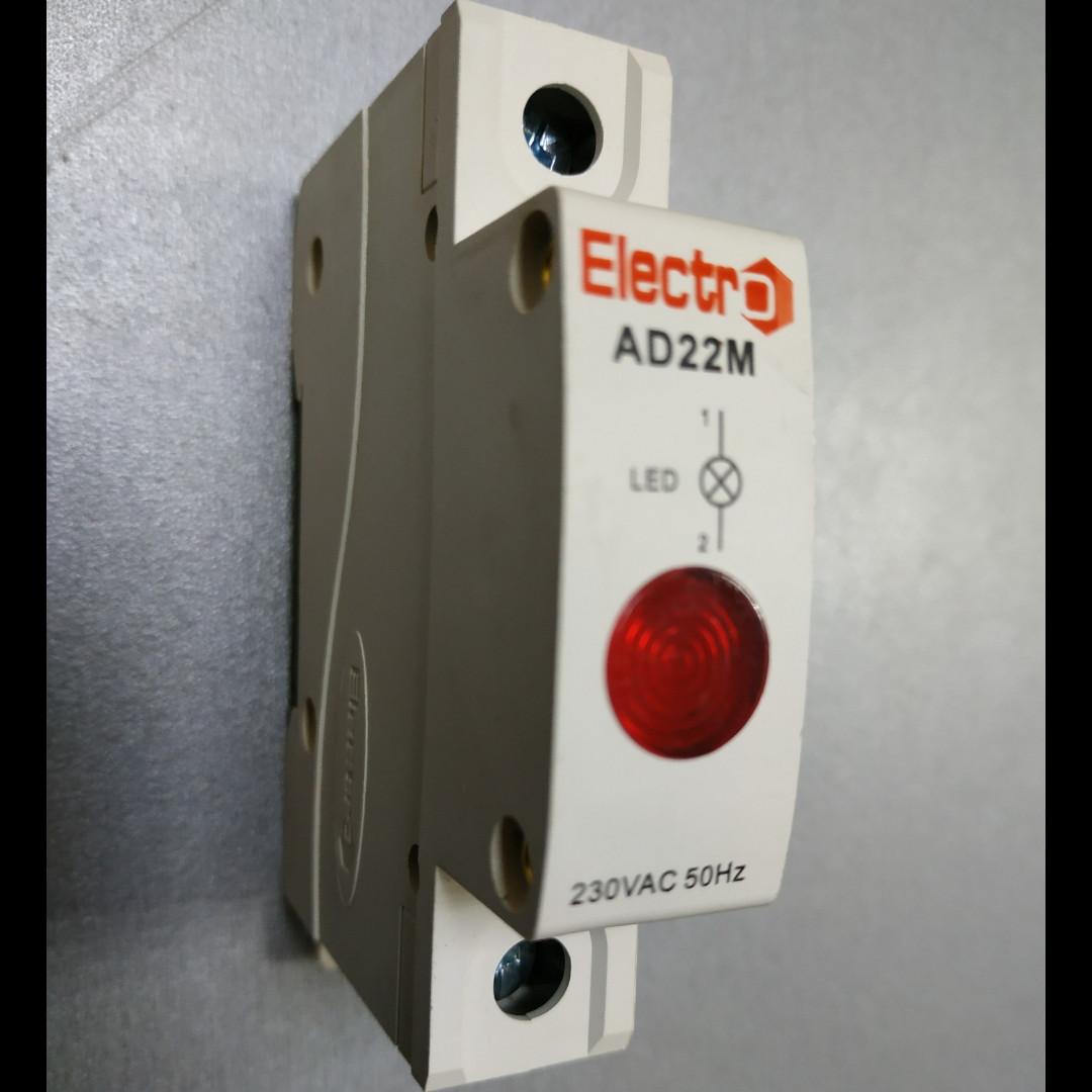 Светосигнальный индикатор AD 22M красный LED , 230В на DIN-рейку