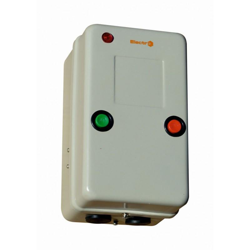 Пускатель 65А и реле в металлическом защитном корпусе Ue=380В/АС3 IP54 с индикатором