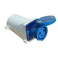 Розетка РС -143 2 полюса + PE 125А 230В IP54 /