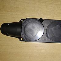 Колодка 2 гнезда с заземлением каучуковая Lemanso / LMA061
