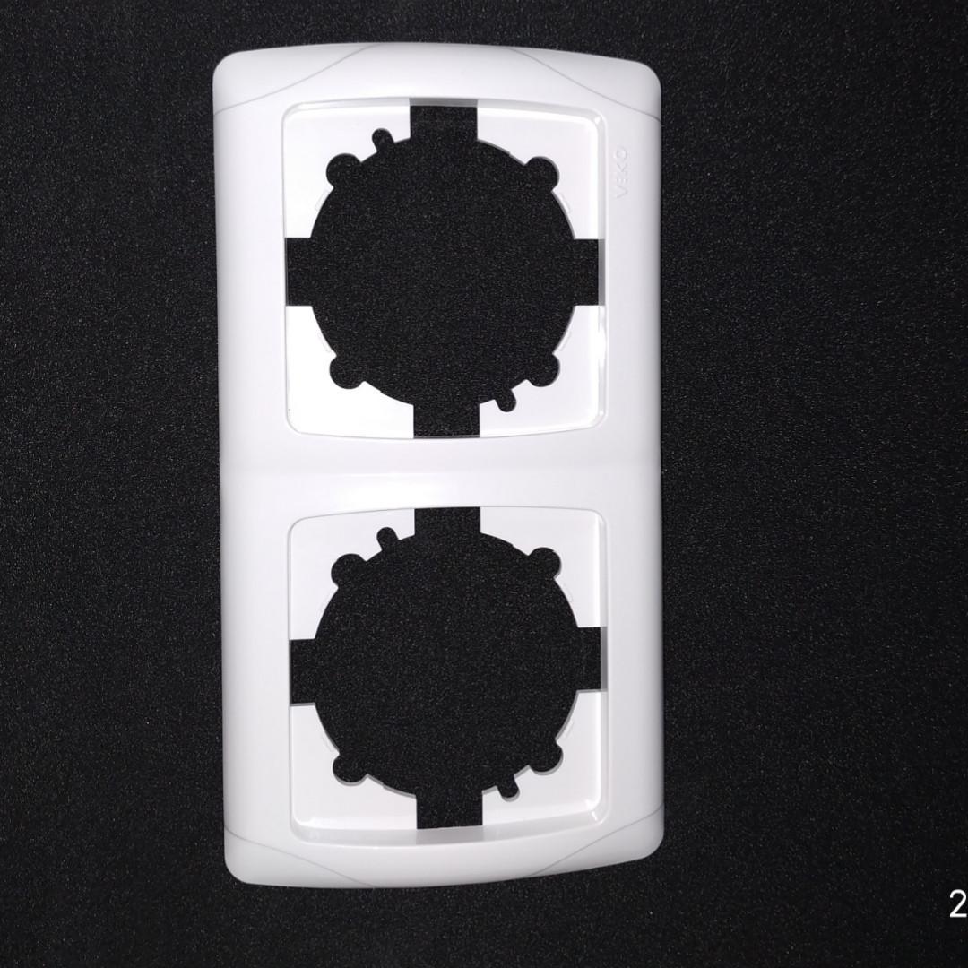Рамка двойная vi-ko carmen белый , крем (слоновая кость (бежевый))