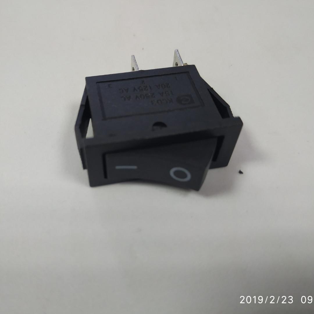 Переключатель 1 клав .(черный ) KCD3-101 B/B 1 клав. черный/ Перемикач 1 клав. чорнийKCD3-101 B/B