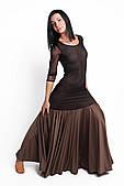 ENSOUL Платье стандарт PST78001301 Лилия (44, коричневый, черный)