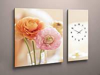 Картины модульные с часами
