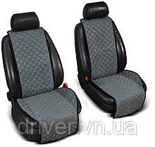 Накидки на сидіння ЕКО-замш, 1+1. Сірі (передні, 2 шт)