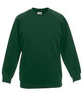 Детский реглан Темно-Зеленый, 152 см