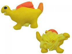 """Мочалка детская """"Динозавр"""" (желтая)  sco"""