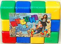 Кубики пластмассовые.(12 штуки) МВ012 Бамсик