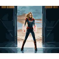Картина по номерам Капитан Марвел 40*50 см GX27934