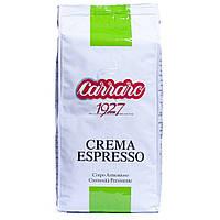 Кофе в зернах Crema Espresso 1kg. Aрабика 80%, робуста 20%.Carraro Caffe S.p.A.Italia.
