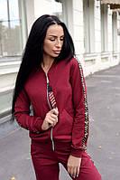 Костюм спортивный женский бордовый, фото 1