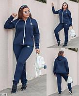 Спортивный костюм женский демисезонный плотный дайвинг больших батальных размеров 50-60, 4 цвета