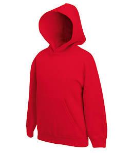 Детская толстовка с капюшоном Красный 116 см