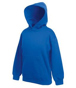 Детская толстовка с капюшоном Ярко-Синий 116 см