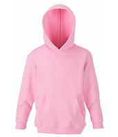 Детская толстовка с капюшоном Светло-Розовый 116 см