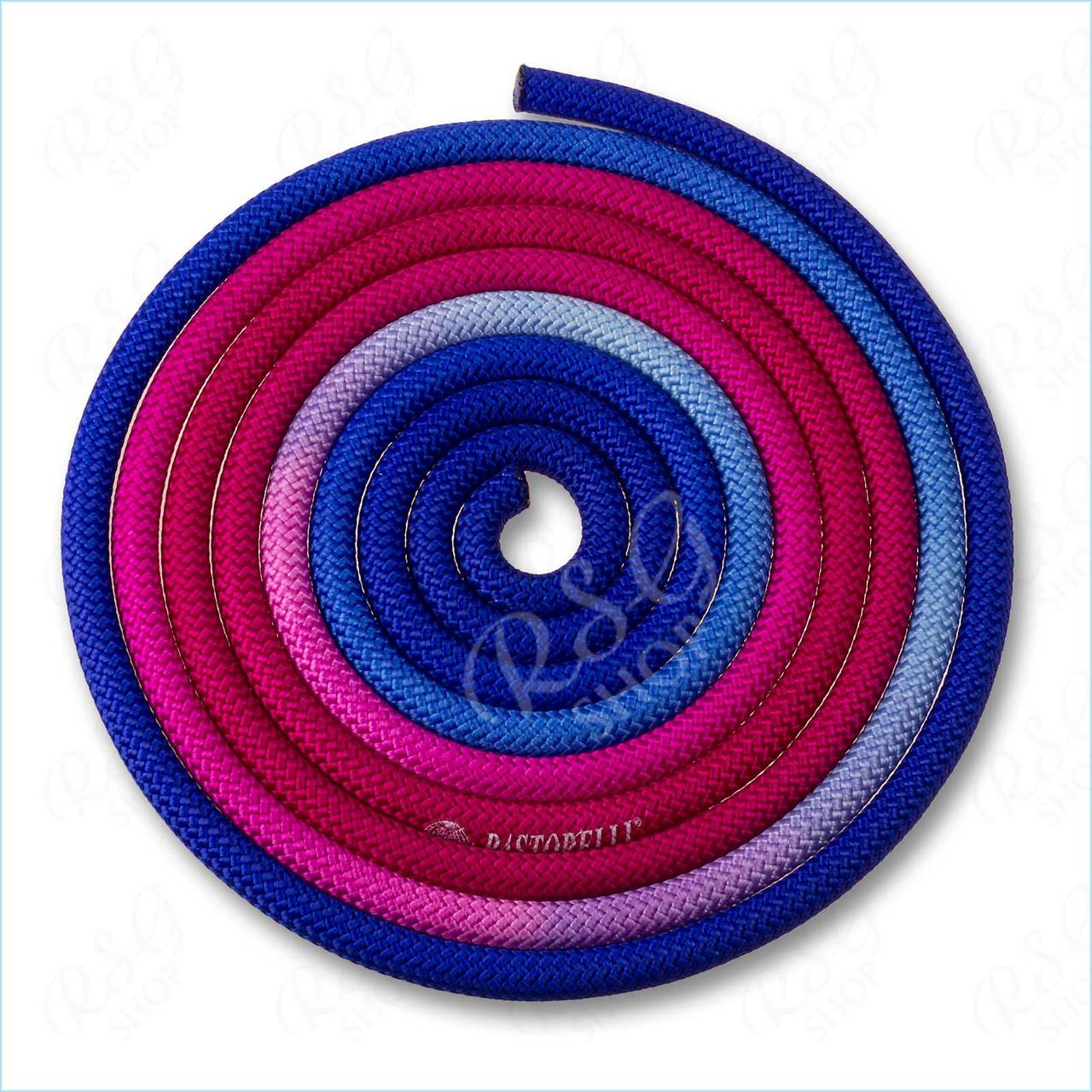 Скакалка Pastorelli New Orleans 3м поліестер 04258 синій-фуксія-рожевий FIG
