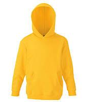 Детская толстовка с капюшоном Солнечно Желтый 164 см