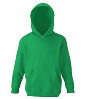 Детская толстовка с капюшоном Ярко-Зеленый 128 см