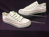 Кеды Converse женские белые, конверсы белые реплика