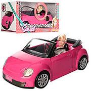 Лялька в рожевому кабріолеті 6633 / Лялька з музичної машиною 6633