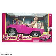 Ігровий набір лялька з машиною / Лялька в рожевому джипі JND-1308