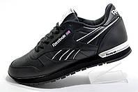 Кожаные кроссовки в стиле Reebok Classic Leather, Black\White