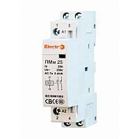 Пускатель ПМм 2 полюса 25A 5.5кВт 230В / Модульний контактор ПМм  2 полюси 25A    NO+NC    230В  ElectrO (шт.)