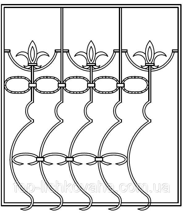 Решетка оконная кованая