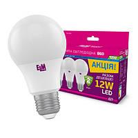 Лампа Светодиодная  ELM 12  4000К  B60 E27 комплект(набор) 3штуки