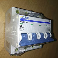 Автоматический выключатель УКРЕМ ВА-2002 4р (3+N) 6А АсКо Автоматичний вимикач УКРЕМ ВА-2002 4р (3+N) 6А, фото 1