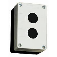 Корпус КПК для установки кнопок, 2 отверстия, белый