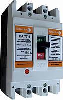 Автоматический выключатель ВА77-1-63 3 полюса 6А Icu 15кА 380В