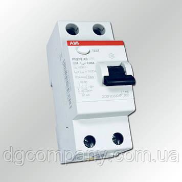 Пристрій захисного відключення ABB FH202 AC -25/0.03