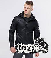 Куртка из экокожи мужская демисезонная Бреггарт Юз черная