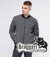 Стильная серая мужская куртка бомбер Бреггарт Юз серого цвета — размер S