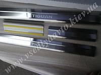 Защита порогов - накладки на пороги Volkswagen TIGUAN с 2007 г. (Standart)