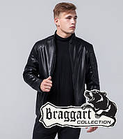Черная мужская демисезонная куртка Braggart Youth экокожа