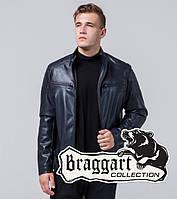 Куртка мужская демисезонная Braggart Youth кожаная темно-синяя