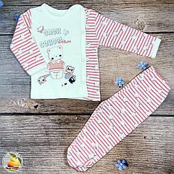 Кофточка и ползуны для малыша (Розовый) Размер: от 0 до 3 месяцев (8884-1)