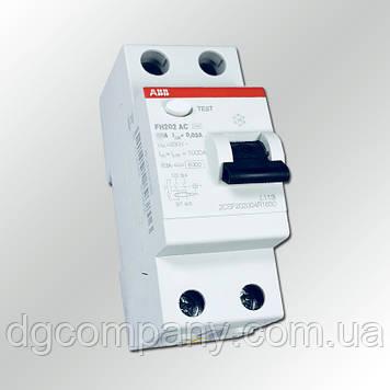 Пристрій захисного відключення ABB FH202 AC -63 /0.03