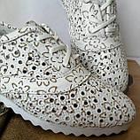 Violetti Прованс! женские мокасины туфли балетки с  перфорацией кожа, фото 9